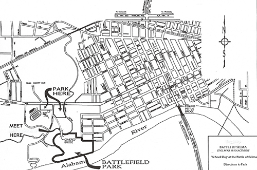 Battle of Selma – Maps/Directions